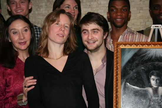 Spencer Liff, Sandra Shipley, Carolyn McCormick, Thea Sharrock and Daniel Radcliffe and cast