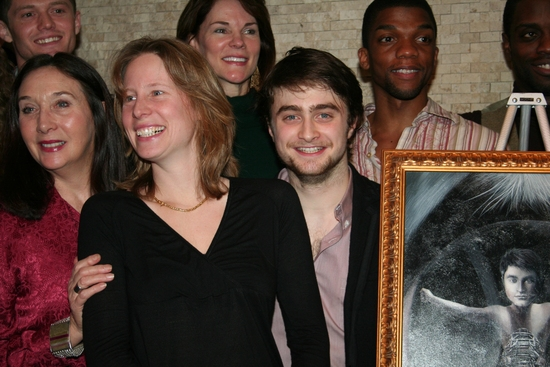Spencer Liff, Sandra Shipley, Carolyn McCormick, Thea Sharrock, Daniel Radcliffe and cast
