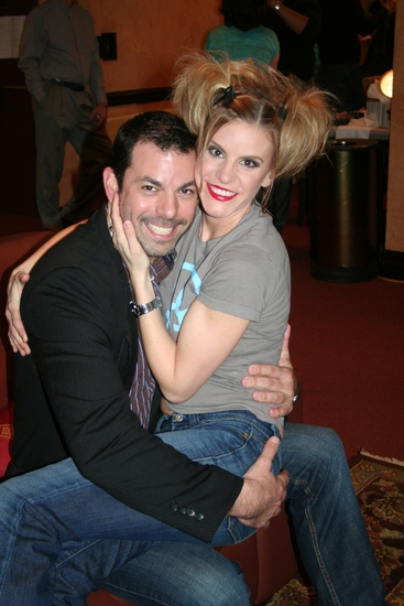 Chuck Saculla and Jenn Colella