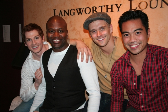 Tim McGarrigal, Adam Perry, Tituss Burgess and Enrico Rodriguez