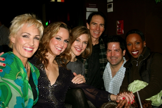 Amra-Faye Wright, Melora Hardin, Brenda Strong, Tom Henri, party guest and Brenda Braxton