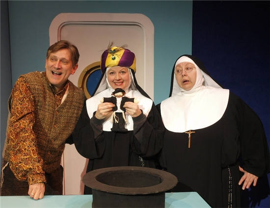 David Edwards (as Howard) Jeanne Tinker (as Sister Amnesia) and Bonnie Lee (as The Mo Photo