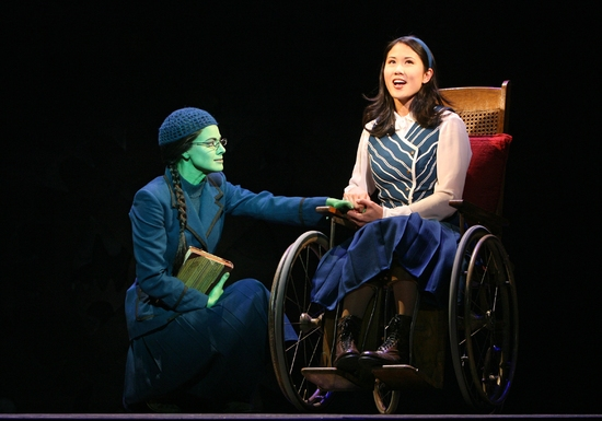 Teal Wicks as Elphaba and Deedee Magno Hall as Nessarose