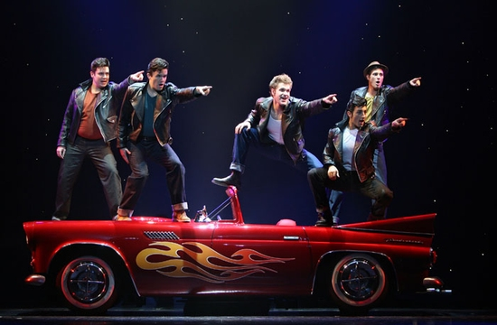 """Greased Lightnin'"" Will Blum, Brian Crum, David Ruffin, Eric Schneider and Nick Verina"