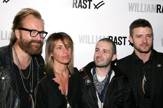 Johan Lindeberg,  Marcella Lindeberg, Trace Ayala and Justin Timberlake Photo
