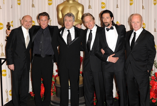 Ben Kingsley, Robert De Niro, Sean Penn, Michael Douglas, Adrien Brody, and Anthony Hopkins