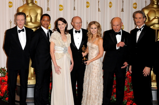 Christopher Walken, Cuba Gooding Jr., Kate Ledger, Kim Ledger, Sally Bell, Alan Arkin and Kevin Kline at OSCARS 2009 - The Winners Room