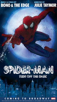 'SPIDER-MAN, Turn Off the Dark' Swings to Bdwy's Hilton Theatre Feb. 2010, Previews Begin 1/16