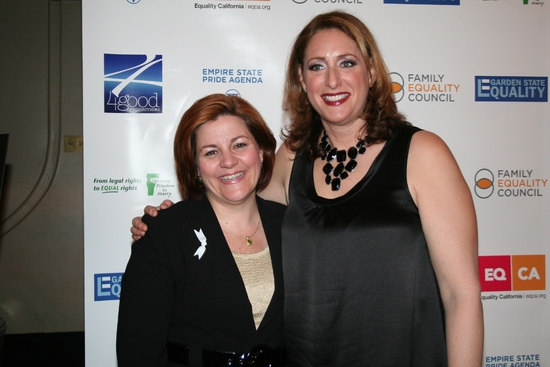 Christine C. Quinn and Judy Gold