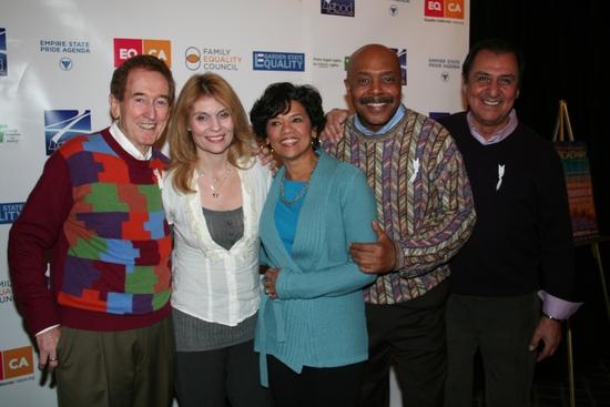 Sesame Street's Bob McGrath (Bob), Allisoin Bartlett-O'Reilly (Gina), Sonia Manzano (Maria), Roscoe Orman (Gordon)