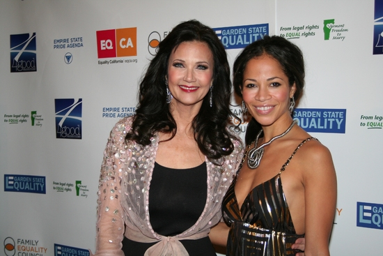 Lynda Carter and Sherri Saum