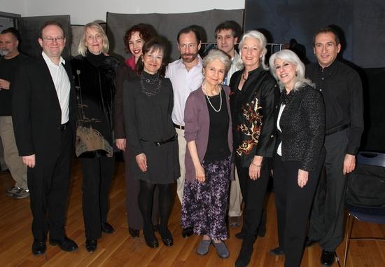 Andrew Leynse, Tina Howe, Shannon Polly, Barbara Marks, Alan Marks, Lynn Cohen, Elliot Fox, Jane Alexander, Jamie DeRoy and Carl Mullenberg