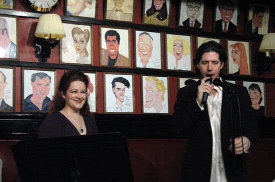 Rebecca Robbins abd James Barbour at James Barbour's 'LOVE SONGS' at Sardi's
