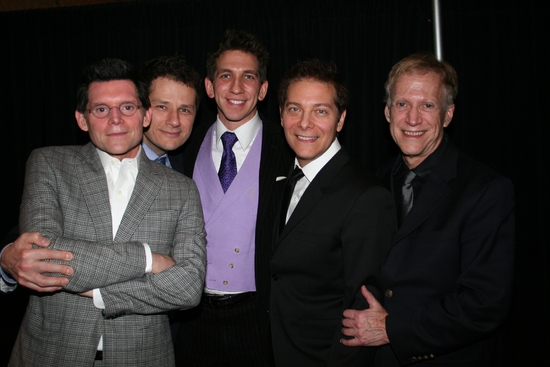 Terrance Flannery, Tom Postilio, Mickey Conlon, Michael Feinstein and David Lewis