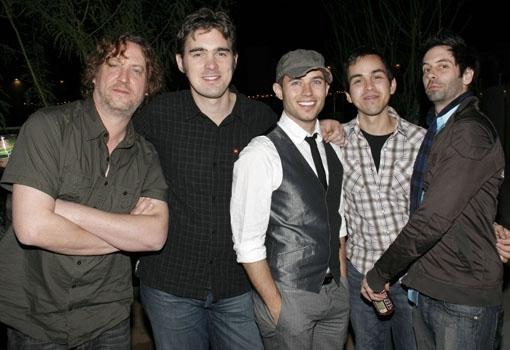 The Band: Michael Sherwood, Chris Chandler (Bass), Upright Music Director Chris Bratten, Nick Perez (Guitar), and Matt Lucich (Drums)