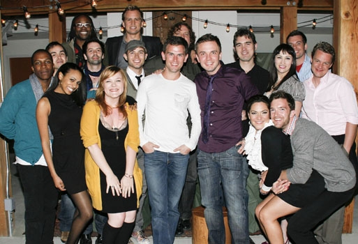 Upright Cabaret Palm Springs cast (L-R): Leslie Odom, Jr, Nick Perez, Nicolette Robinson, Billy Porter, Matt Lucich, Audra Mae, Chris Isaacson, Chris Bratten, Daniel Reichard, Michael Sherwood, Shane Scheel, Chris Chandler, Shoshana Bean, Tim Draxl, Eden