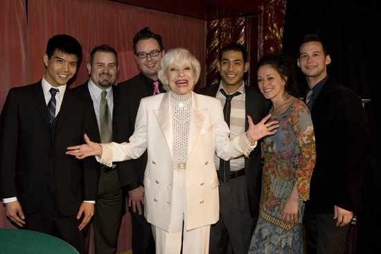 Telly Leung, Guests, Carol Channing, Justin Johnston, Caren Tackett and Jed Resnick
