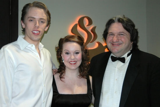 Jonathan Gabriel Michie, Leah Jennings and James Bassi (Musical Director) at 'A Little Night Music' at the White Plains PAC