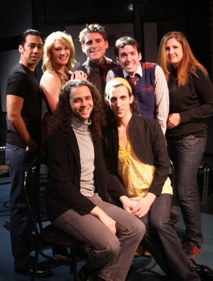 Justin Mendoza, Jenn Lederer, Elliot Roth, Joshua DesJardins, Kayla Goble, Anthony Hollock and Martin Gould Cummings at Midtwenties: The Show