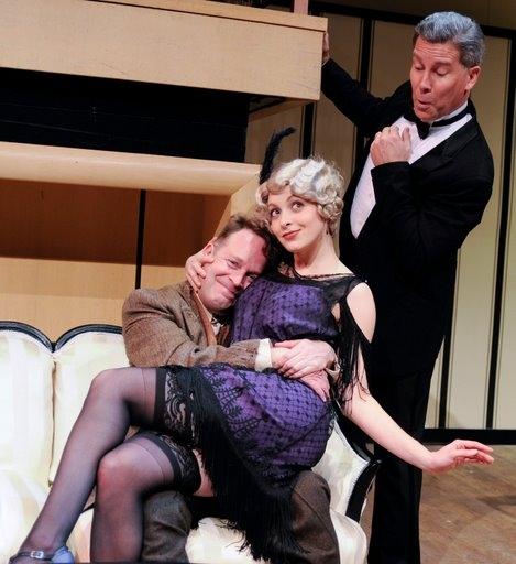 Tom Ford-Tartuffe, Christina DeCicco-Elmire, and Keith Buterbaugh-Orgon
