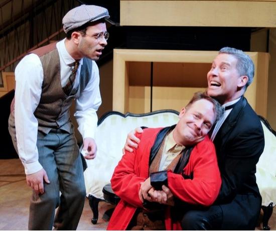 Aaron Costa Ganis-Damis, Tom Ford-Tartuffe and Keith Buterbaugh-Orgon