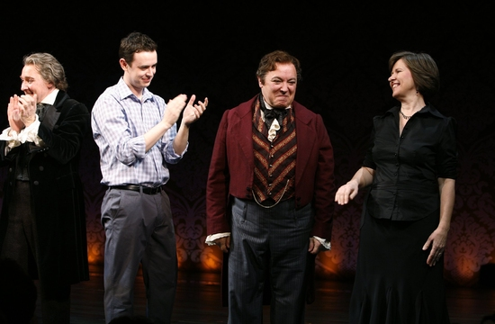Zach Grenier, Colin Hanks, Don Amendolia and Diane Walsh at 33 VARIATIONS Opening Night Curtain Call