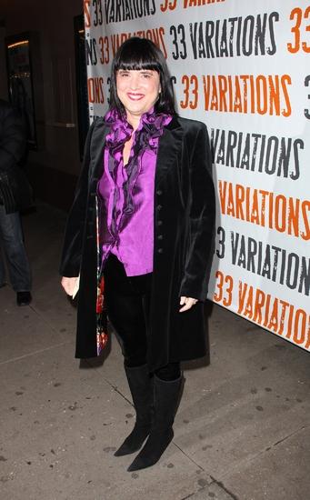 Eve Ensler   at 33 VARIATIONS Broadway Opening Night Arrivals