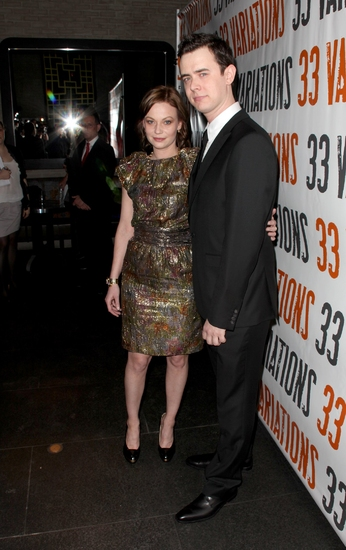 Samantha Mathis and Colin Hanks