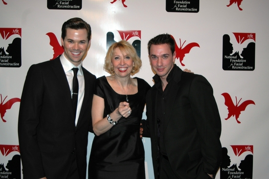 Andrew Rannells, Julie Halston and John Carroll