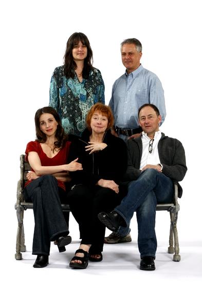 Director Pam MacKinnon with Matthew Arkin, Jenny O'Hara, Marin Hinkle and Arye Gross