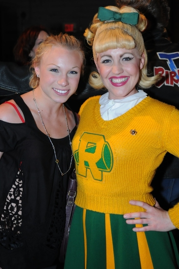 Allison Fischer and Erin Henry at GREASE Tour is the 'Word' in LA!