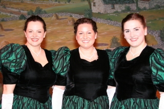 Soloists Katie Ford, Cara Green and Angela Richardson