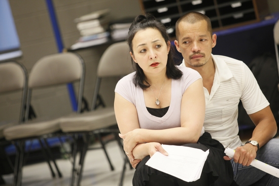 Lisa Tejero and Arthur Acuna  at GHOSTWRITTEN at Goodman Theatre