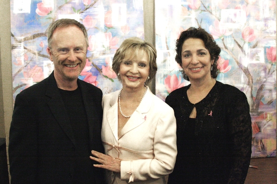 Hywel Sims with Florence Henderson and Dr. Iris Levine