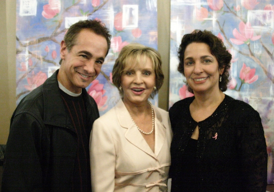 Jason Graae, Florence Henderson and Vox Artistic Director, Dr. Iris Levine Photo
