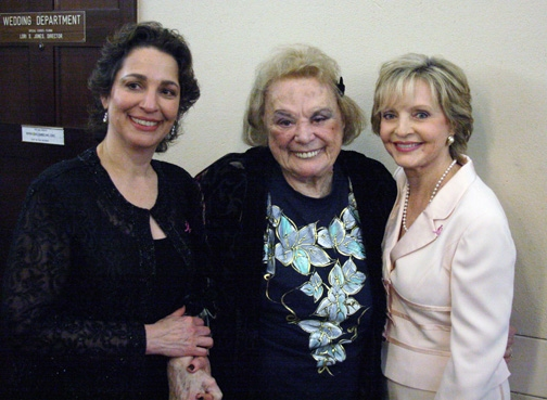 Dr. Iris Levine with Rose Marie and Florence Henderson