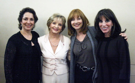 Dr. Iris Levine, Florence Henderson, Sharon Lawrence and Kate Linder