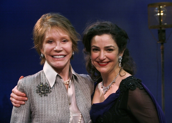 Mary Tyler Moore and Marla Schaffel