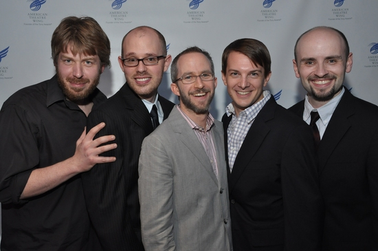 2009 Jonathan Larson recipients Dave Malloy, Ryan Scott Oliver, Curtis Moore, Tom Mizer, Mark Allen