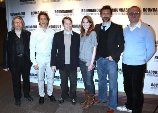 Christopher Hampton, Steven Weber, Anna Madeley Matthew Broderick, Jonathan Cake and David Grindley