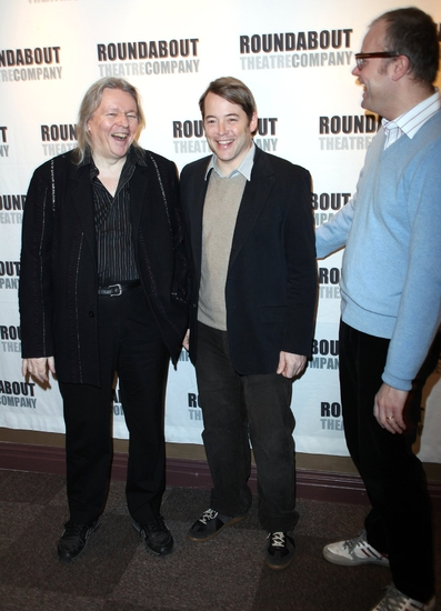 Christopher Hampton, Matthew Broderick and David Grindley
