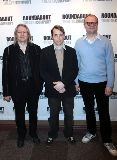 Christopher Hampton, Matthew Broderick and David Grindley at THE PHILANTHROPIST Meets the Press!