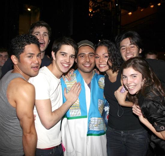 Manuel Herrera with cast members featuring Isaac Calpito, Matt Cavenaugh, Joey Haro, Karen Olivo, George Akram, Josefina Scaglione