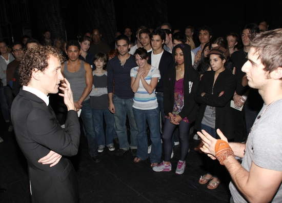 Jeffrey Seller, Cody Green and the West Side Story cast