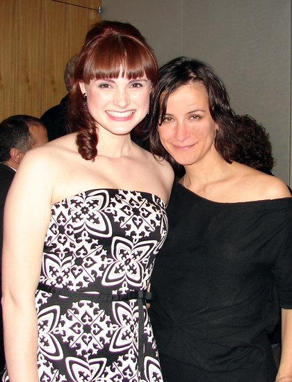 Caitlin Collins and director Anna D. Shapiro Photo