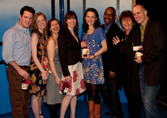 Peter O'Connor, Wrenn Schmidt, Suzanne Agins, Deirdre O'Connor, Natalia Payne, James King, Angelina Fiordellisi and Kelly AuCoin at Opening Night Of 'Jailbait' At Cherry Pit