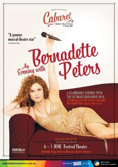 BWW's First Look at the Australia Concert Poster for Bernadette Peters' Adelaide Cabaret Festival Performances