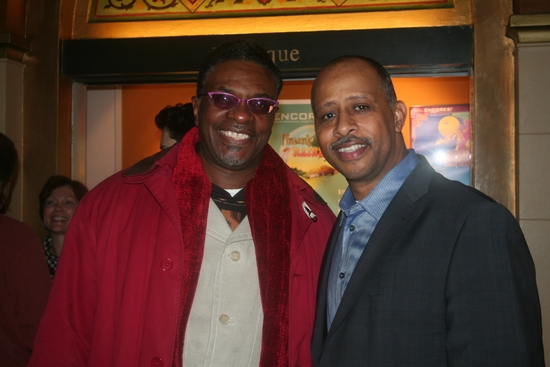 Keith David and Ruben Santiago-Hudson at FINIAN'S RAINBOW Closing Night Party