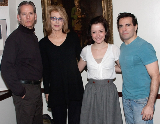 Campbell Scott, Jill Clayburgh, Phoebe Neidhardt, and Mario Cantone