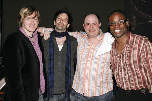 The Band: Jonny Morrow, Matt Lucich, James Sampliner, and Billy Porter at Upright Cabaret